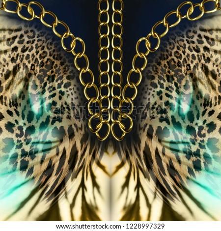 chains leopard background #1228997329