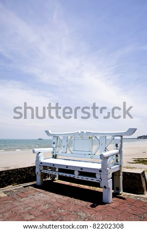 chair and nice blue sky