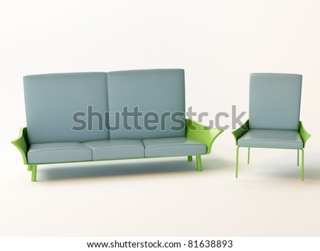 chair and sofa - stock photo