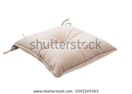chair cushion isolated on white background