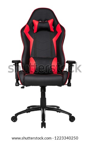 chair gaming black and red #1223340250