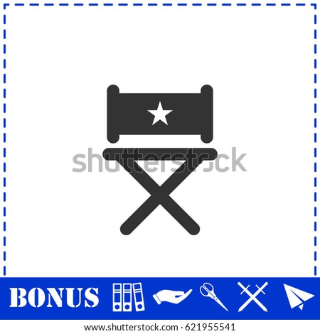 Chair icon flat. Simple illustration symbol and bonus pictogram