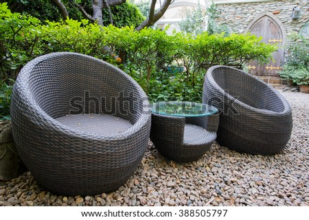 Chair in garden #388505797