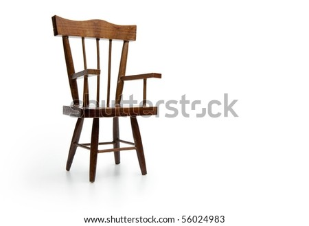Chair isolated on white.