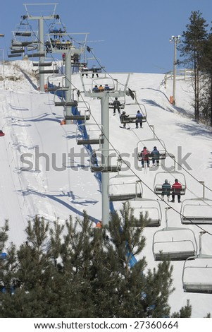 Chair Lift - stock photo