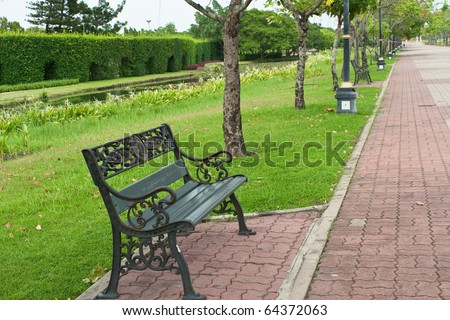 Chair Metal Park Bench. Stock Photo 64372063 : Shutterstock