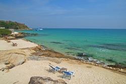 Chair on beach, Samed island, Thailand