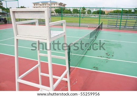 chair referee in the stadium tennis