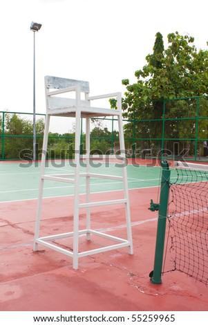 chair referee in the stadium tennis sport
