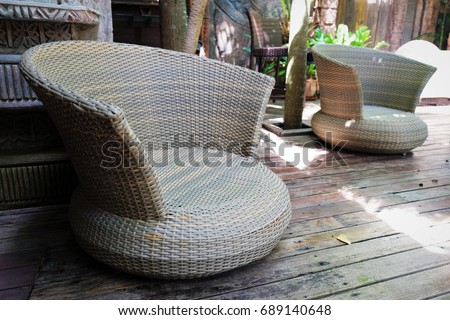 Chair weave made of Lepironia articulata is stylish and very unique. #689140648