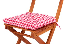 Chair with cushion isolated on white