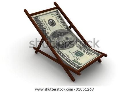 Chair with DOLLAR