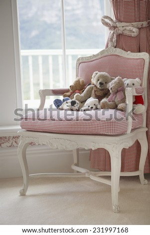Chair with Stuffed Toys