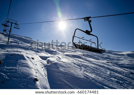 Chairlift at treble cone