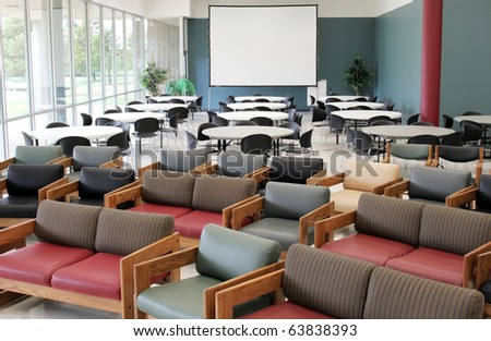 Chairs in a large room