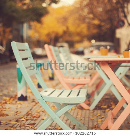 chairs in autumn