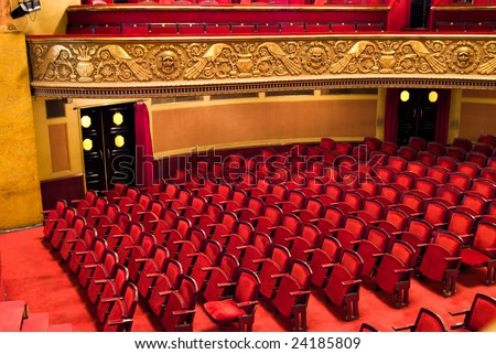 chairs in classic theater performance hall