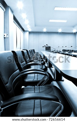 Chairs in Meeting room - blue tone