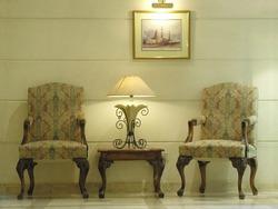 chairs. lamp. hotel