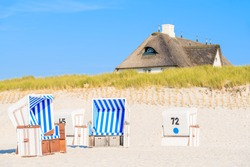 Chairs on Kampen beach, Sylt island, Germany