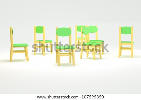 chairs to spread on a white background