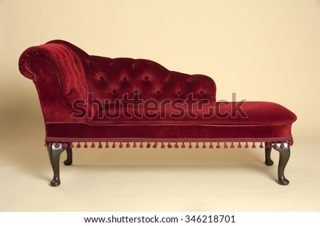 chaise longue seat covered in a ...