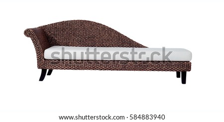 Chaise lounge isolated with clipping path.  Foto stock ©