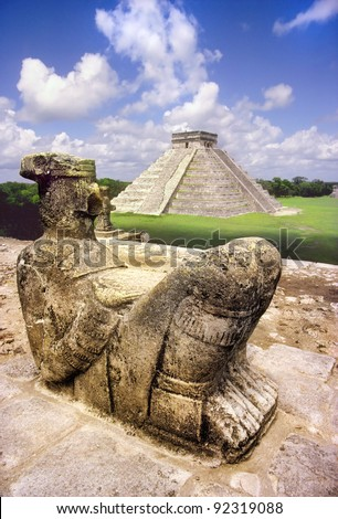 Shutterstock Chak Mul sacrificial statue of the Mayan at Chichen Itza
