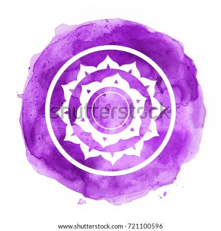 chakra symbol watercolor artistic illustration