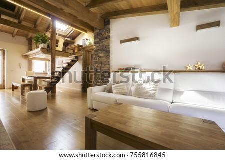 chalet style modern flat in wood
