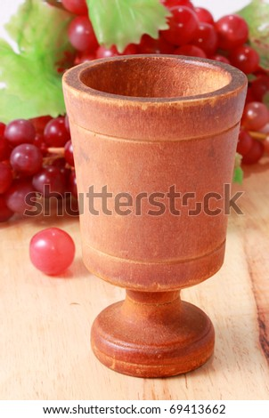 Chalice with grapes