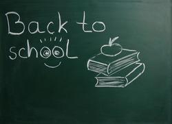 chalk board green back to school