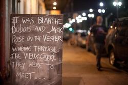 Chalk board Love Note outside Bar