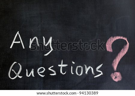 Chalk Drawing - Any Questions? Stock Photo 94130389 ...