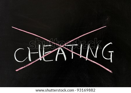 Chalk drawing - Cheating