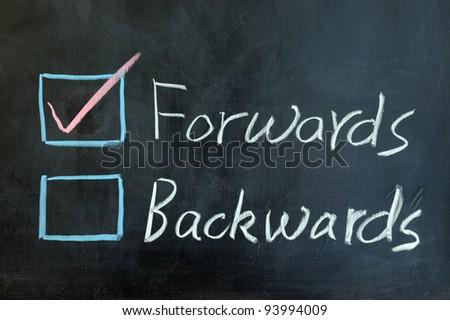 Chalk drawing - Forwards or backwards