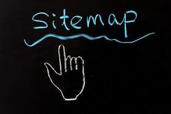 Chalk drawing - Sitemap