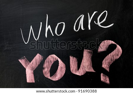 Chalk drawing - Who are you