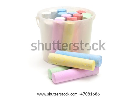 chalk isolated on a white