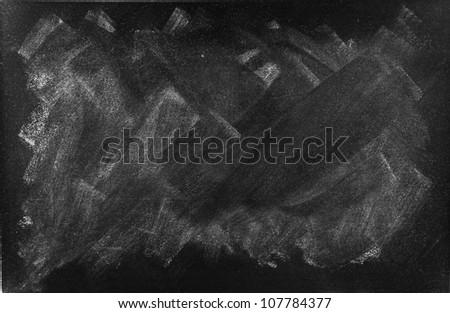 Chalk rubbed out on blackboard