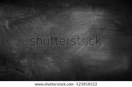 Chalk rubbed out on blackboard  - Shutterstock ID 523858522
