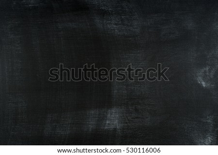 Chalk rubbed out on blackboard. Abstract background, empty template.