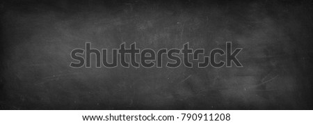 Chalk rubbed out on blackboard background - Shutterstock ID 790911208
