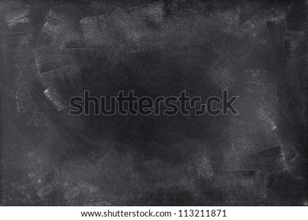 Chalk rubbed out on board. Space for advertising message