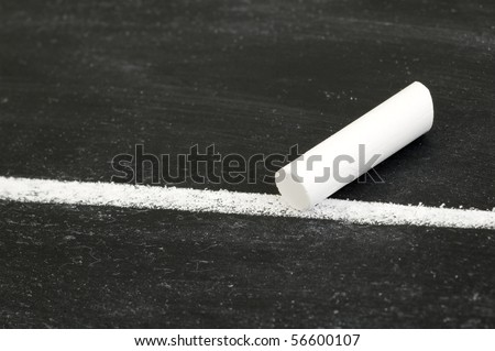 Chalk with White Line.