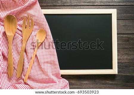 Free Photos Empty Blackboard With Kitchen Utensils Empty