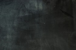 Chalkboard background black and white empty ready for writing. Chalkboard texture. School board for writing wiped out clean. Black Clean chalkboard ready for lesson. Copy space.