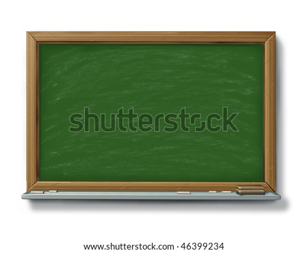 chalkboard blackboard with chalk isolated on white