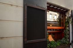 Chalkboard in restaurant for logo menu promotion