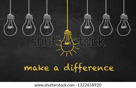 Chalkboard Light Bulb - Make a Difference